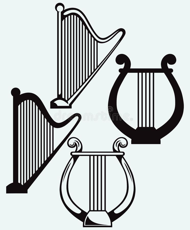 Illustration of lyre royalty free illustration