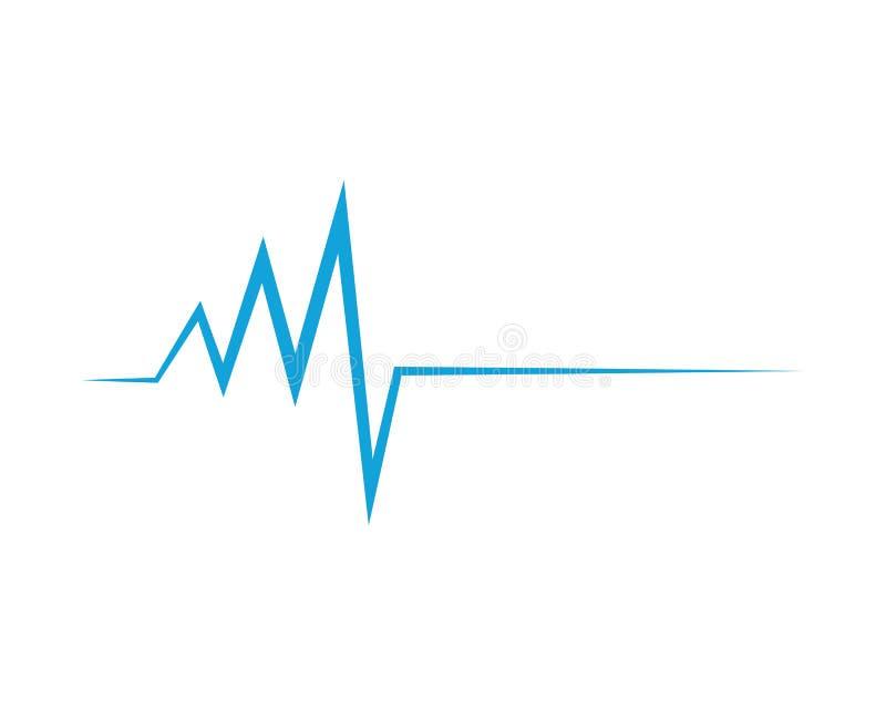 Illustration médicale d'icône d'impulsion de battement de coeur illustration de vecteur