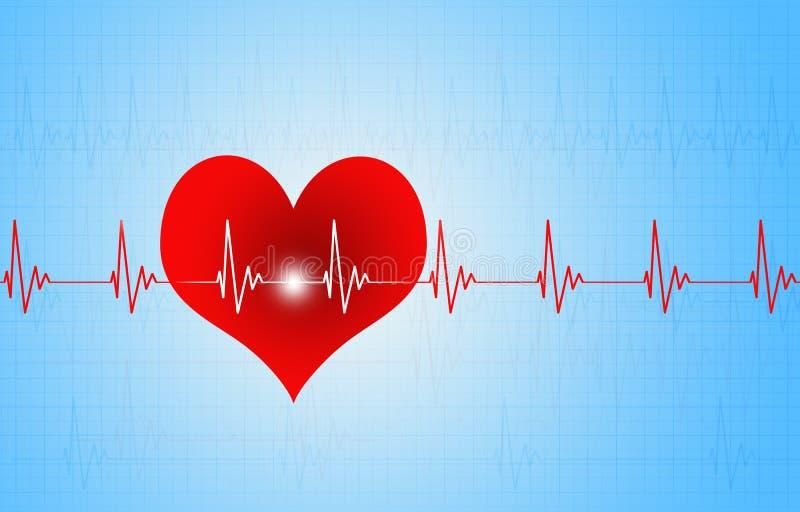 Illustration médicale de battement de coeur illustration de vecteur
