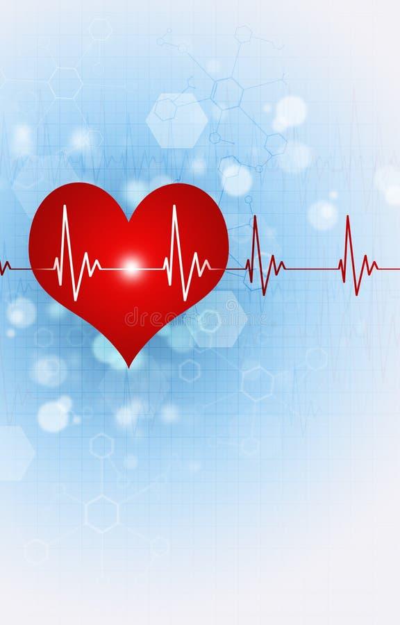 Illustration médicale de la science de battement de coeur illustration stock