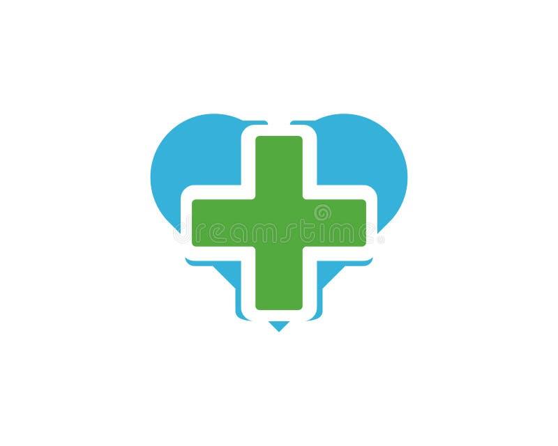 Illustration médicale de vecteur de calibre de logo de santé illustration libre de droits