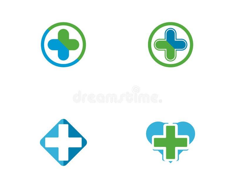 Illustration médicale de vecteur de calibre de logo de santé illustration stock