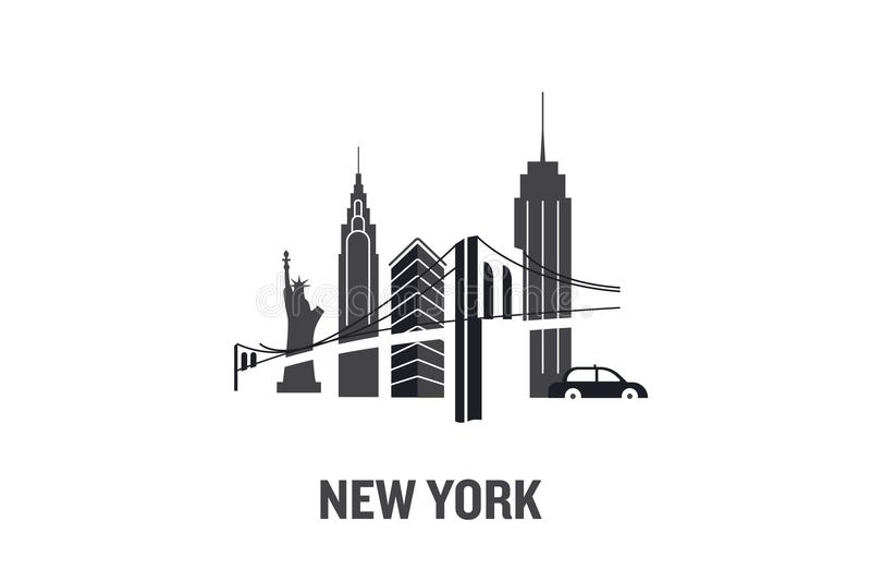 New York art design concept. royalty free illustration
