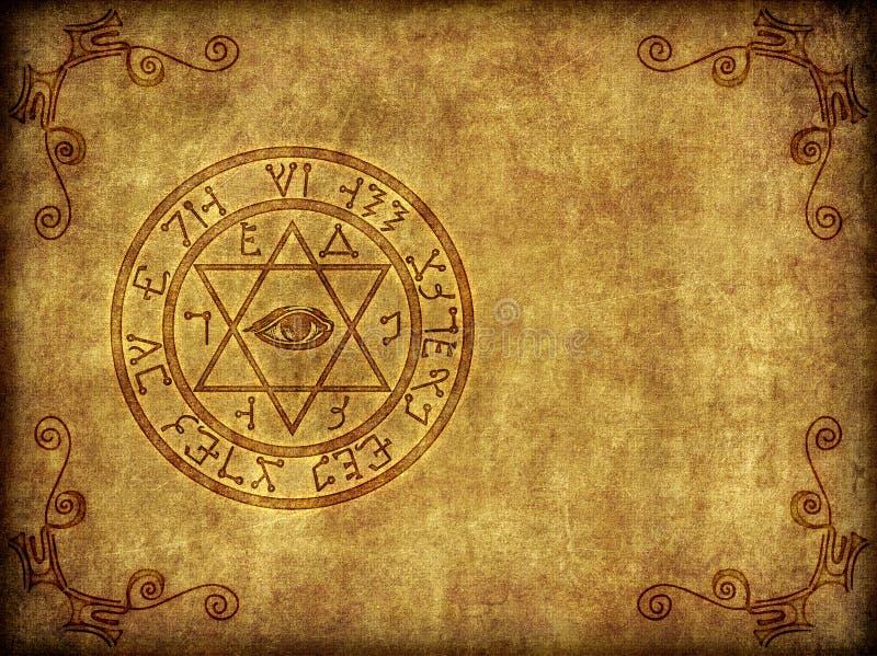 Illustration magique antique de Sigil illustration libre de droits