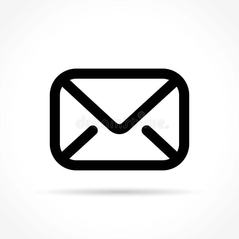 Mail icon on white background royalty free illustration