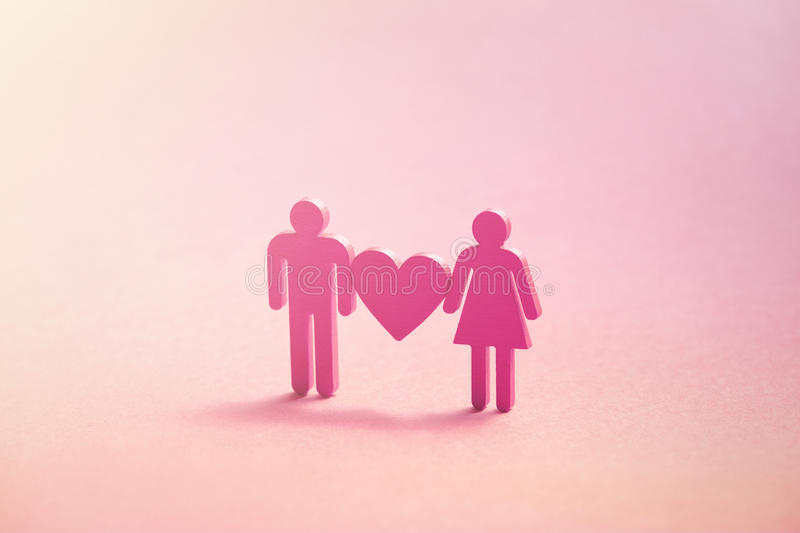Illustration of male loving with female royalty free illustration