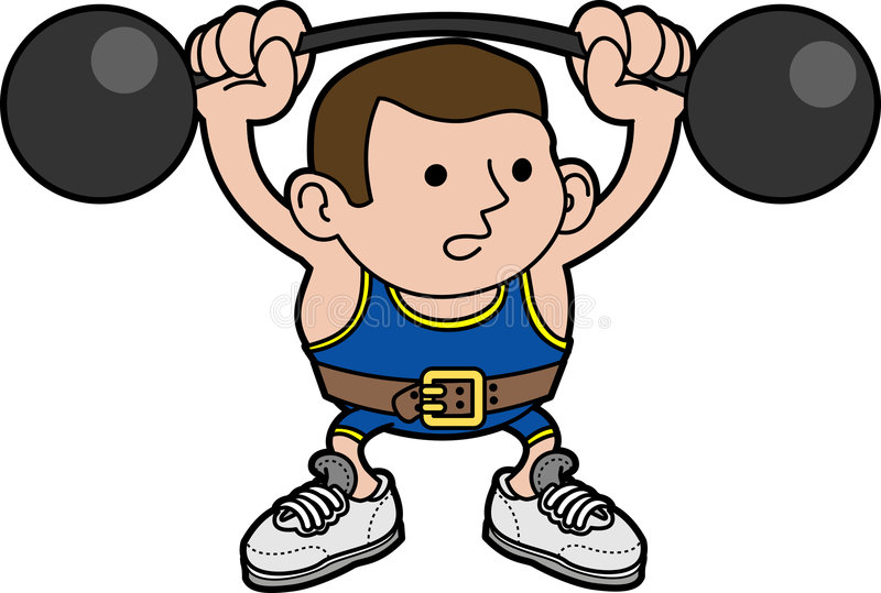 Download Illustration Male Weightlifter Stock Vector - Image: 7005751