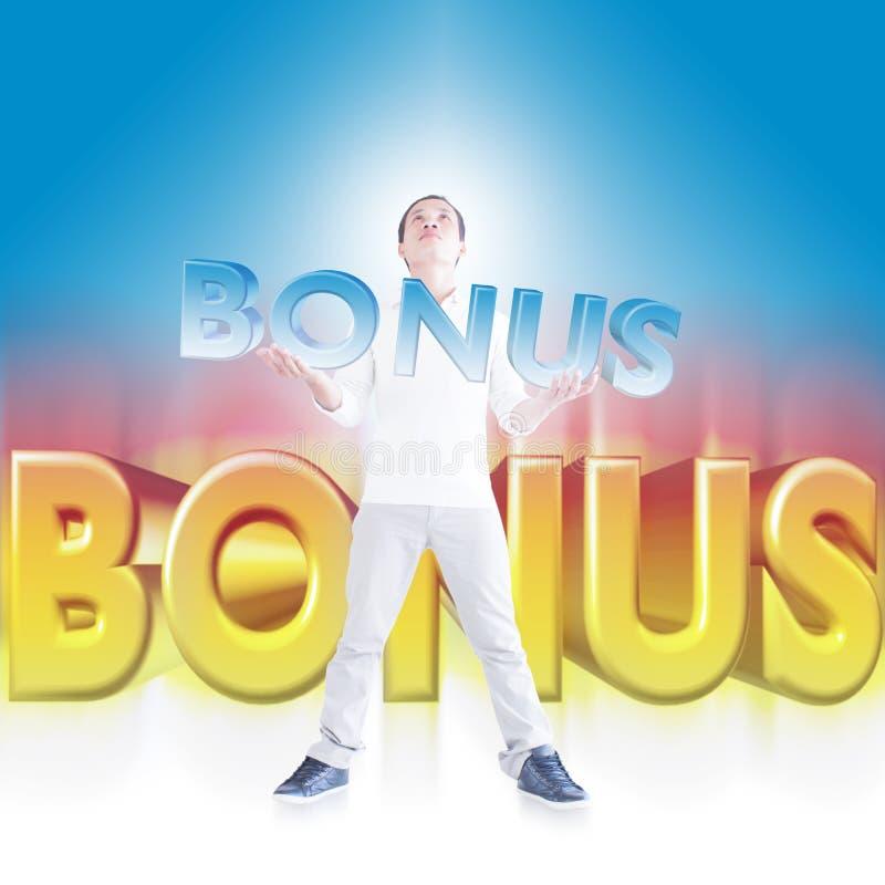 Download Man holding Bonus sign stock illustration. Image of communications - 29905638