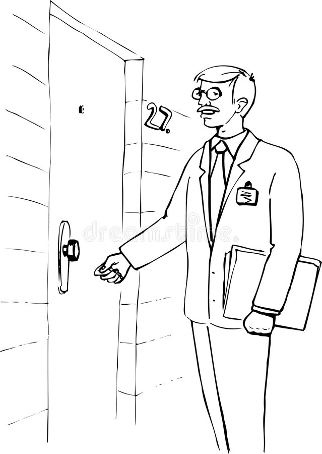Some One Knocking On Door Coloring Pages
