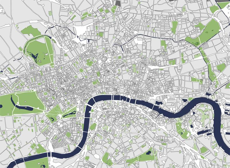 download map of the city of london great britain stock illustration illustration of gray