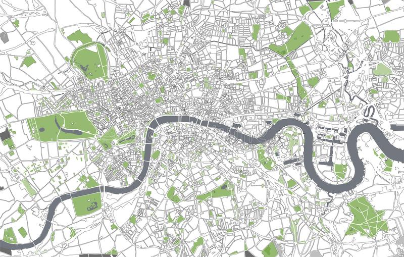 Map Of The City Of London Great Britain Stock Illustration