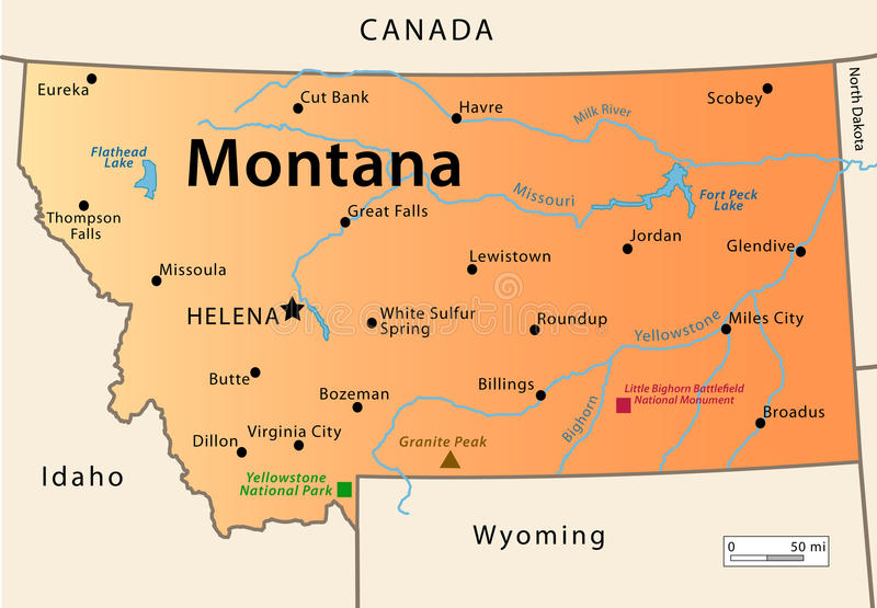 Montana Map Stock Photo Image - Montana map