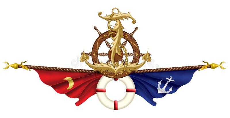Illustration maritime d'icône illustration de vecteur