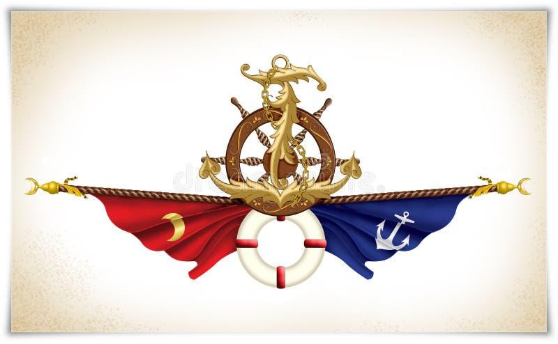 Illustration maritime d'icône illustration stock