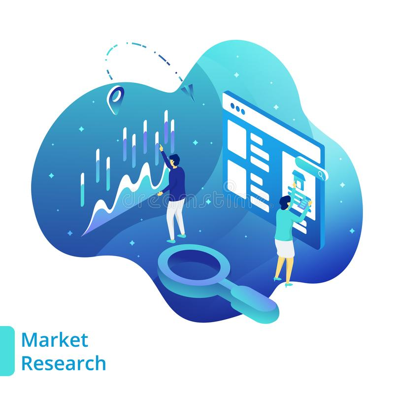 Illustration Market Research vector illustration