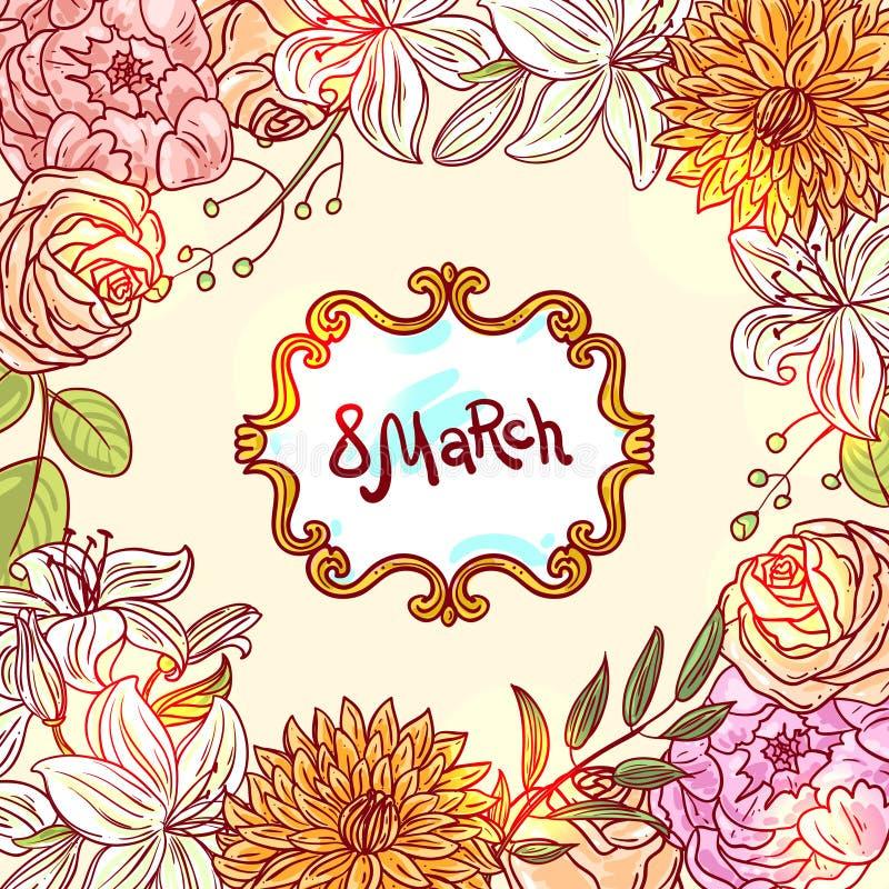 Illustration8 marsch vektor illustrationer