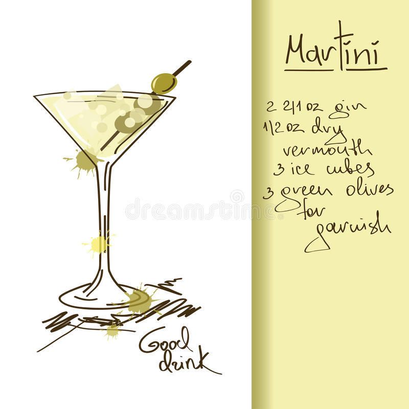 Download Illustration With Martini Cocktail Stock Vector - Image: 33698791