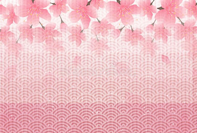 Cherry blossom illustration stock illustration