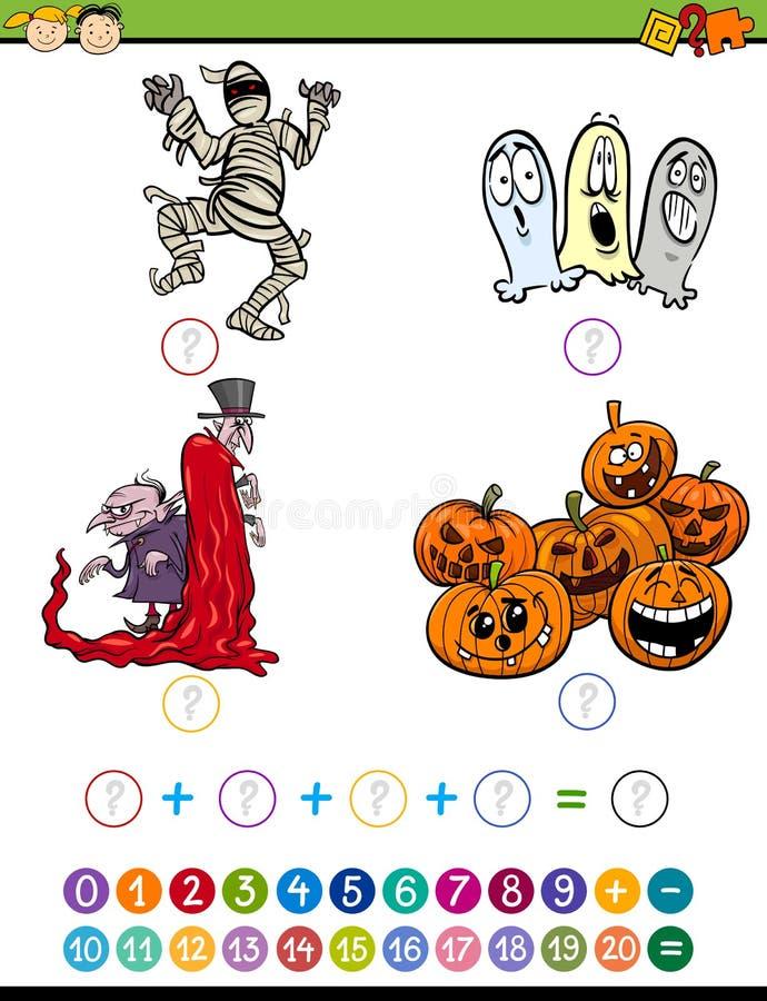 Illustration mathématique de bande dessinée de tâche illustration stock