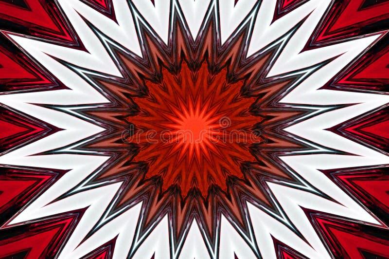 Illustration med exploderande stjärnastrålar stock illustrationer