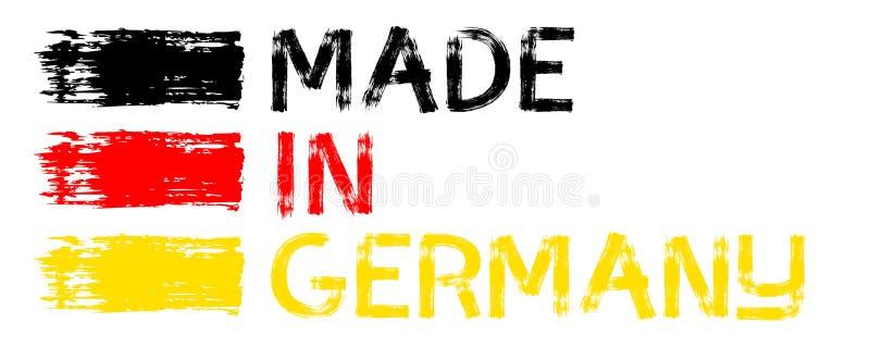 Illustration med gjort i Sverige, Spanien, Italien, Tyskland, Frankrike, porslin stock illustrationer