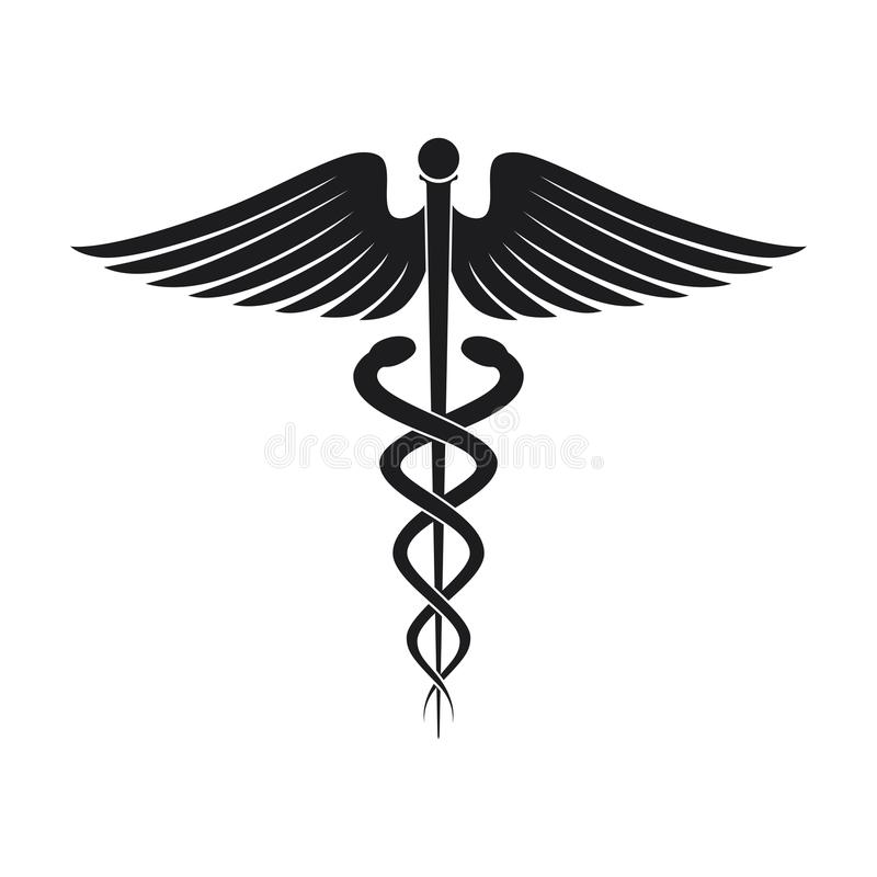 Medical symbol icon stock illustration