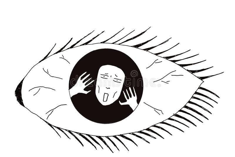 Illustration of mental illness royalty free illustration