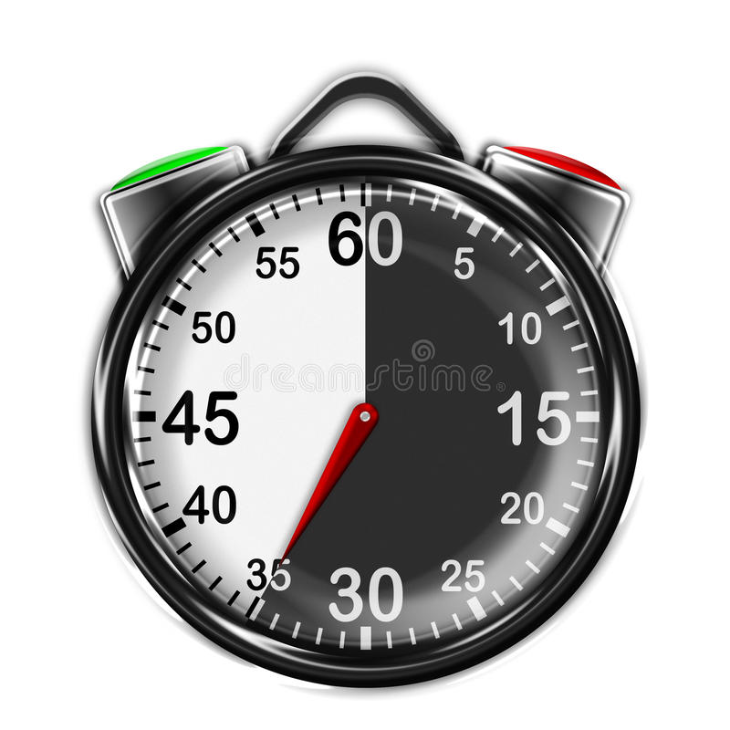 Illustration metallic stopwatch. royalty free illustration