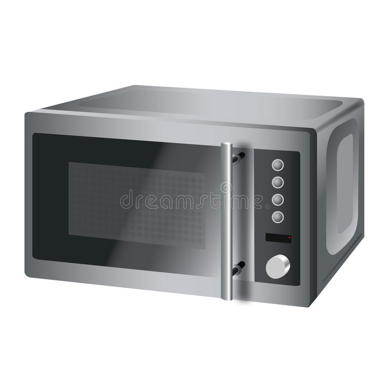 Illustration of microwave oven stock photos
