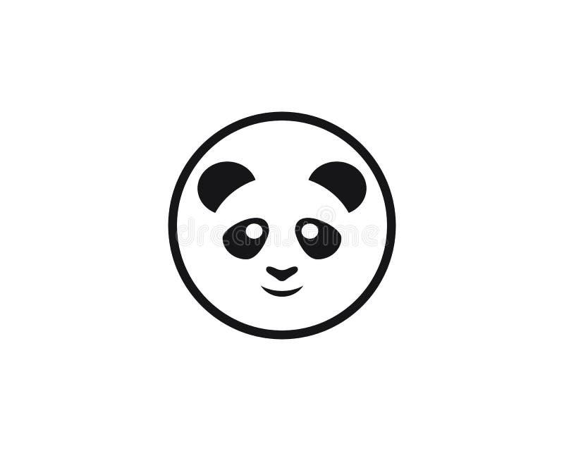Illustration mignonne d'icône de vecteur de calibre de logo de panda illustration stock