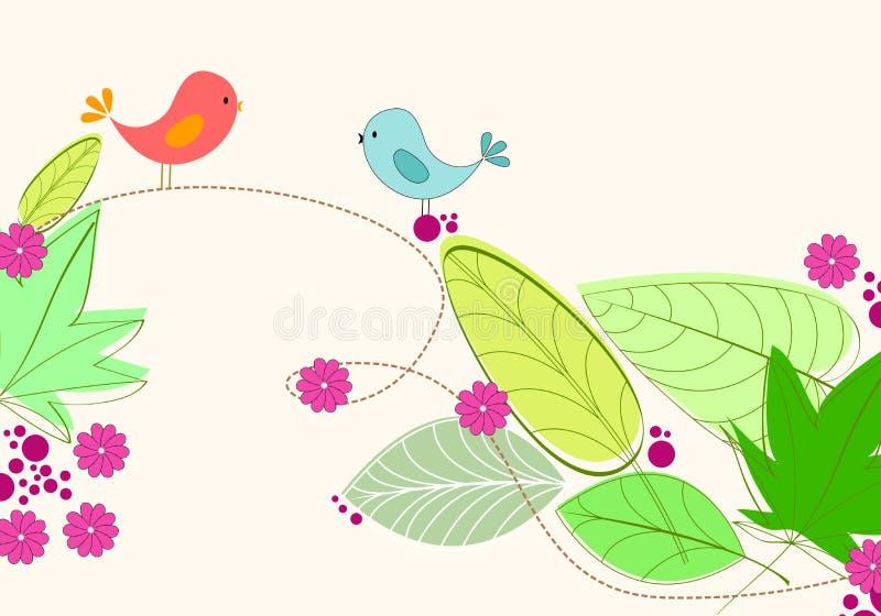 Illustration mignonne d'oiseaux de source illustration libre de droits