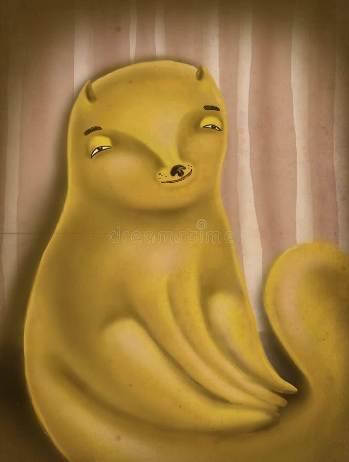 Illustration mignonne d'un chat illustration de vecteur