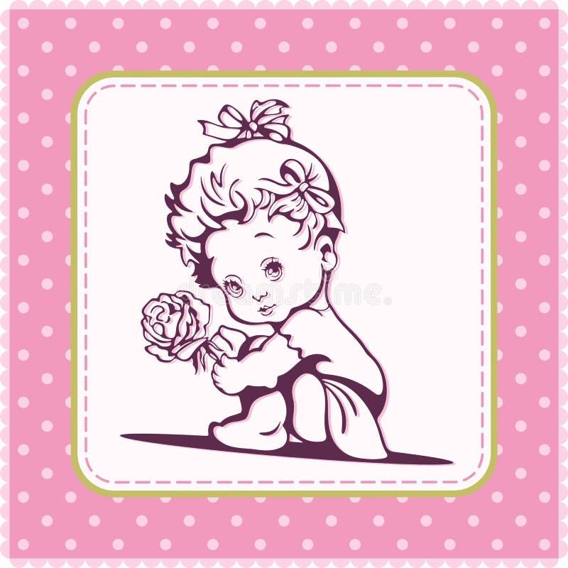 Illustration mignonne de bébé illustration de vecteur