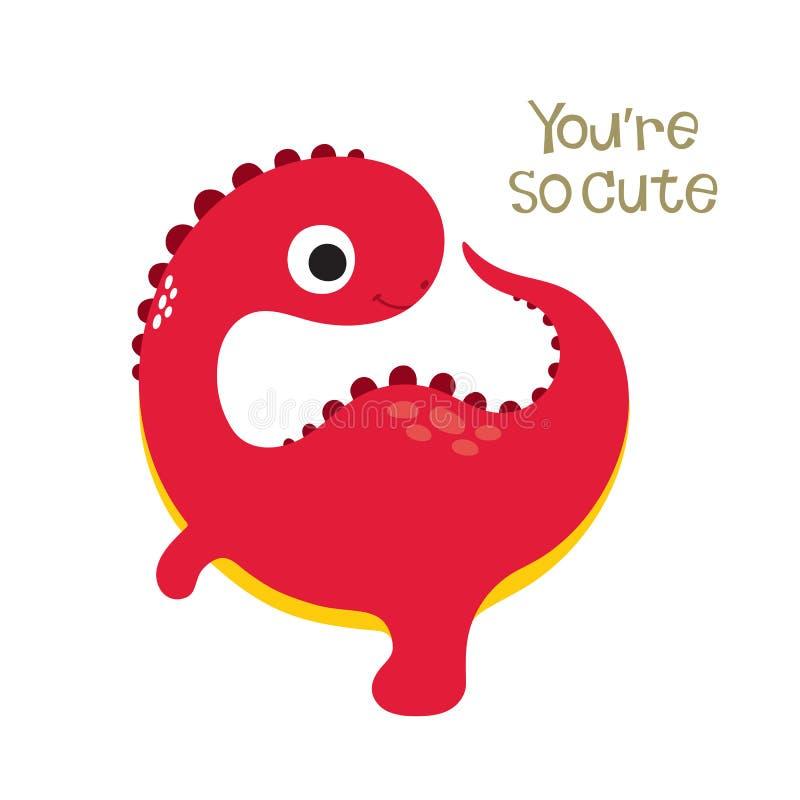 Illustration mignonne de Dino illustration de vecteur