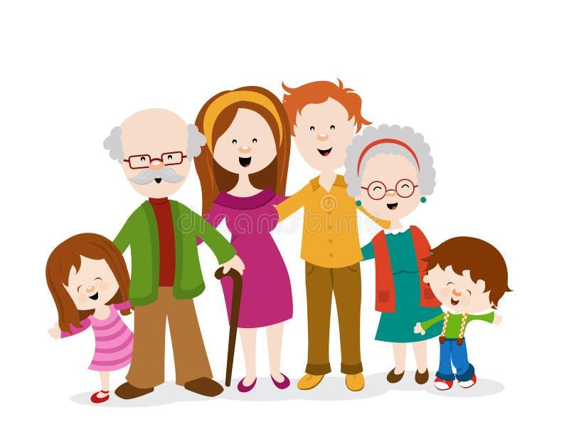 Illustration mignonne de famille illustration libre de droits