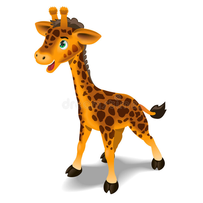 Illustration mignonne de giraffe illustration de vecteur