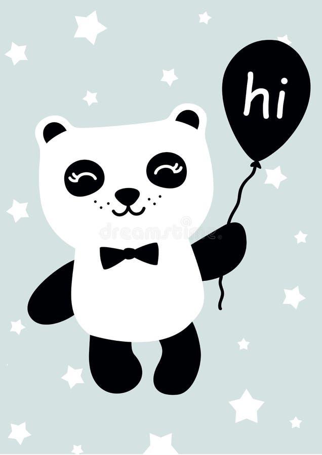 Illustration mignonne de panda illustration stock