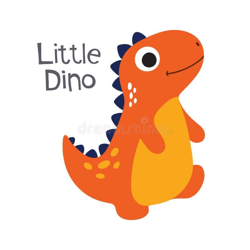 Illustration mignonne de vecteur de Dino illustration de vecteur