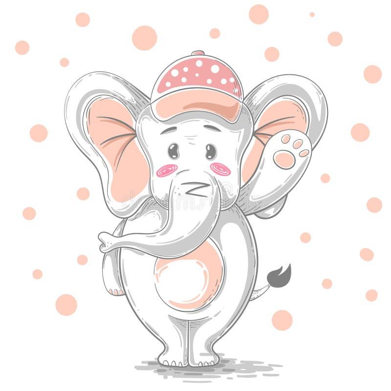 Illustration mignonne et drôle - personnages de dessin animé illustration de vecteur
