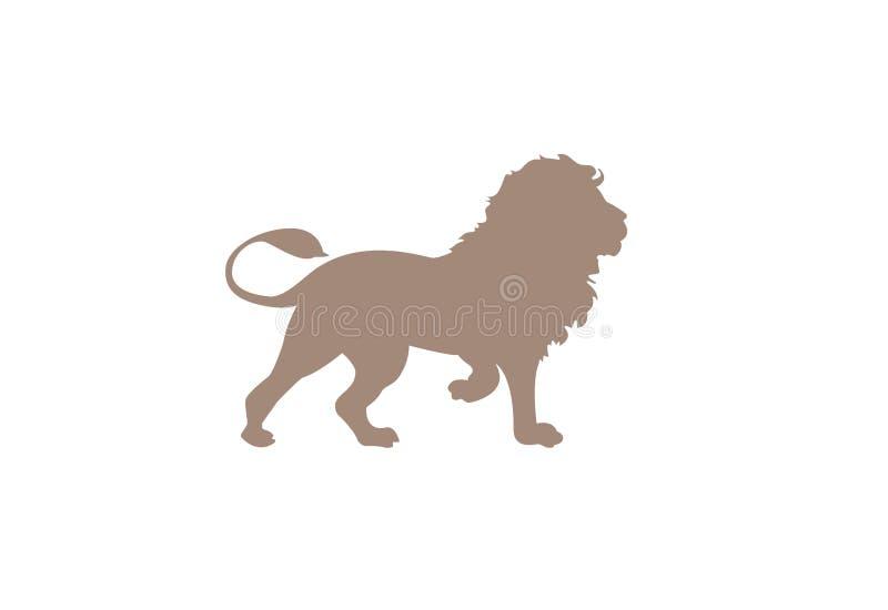 Illustration minimale de vecteur de lion illustration stock