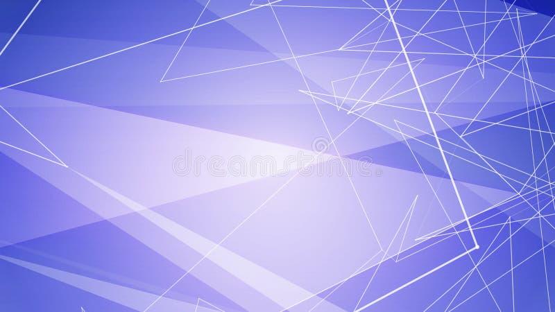 Illustration minimaliste bleue de lignes et de triangles photographie stock