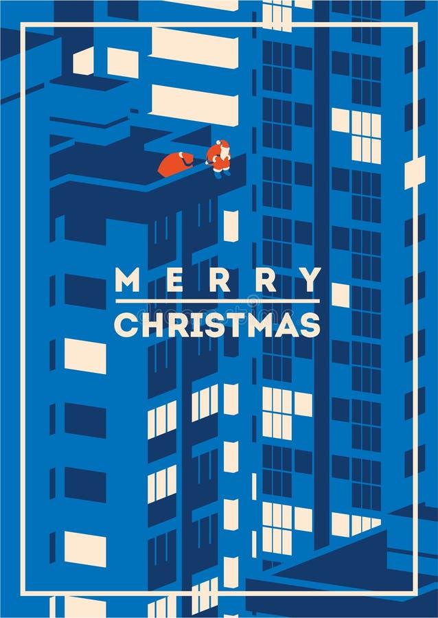 Illustration minimalistic de vecteur de Joyeux Noël