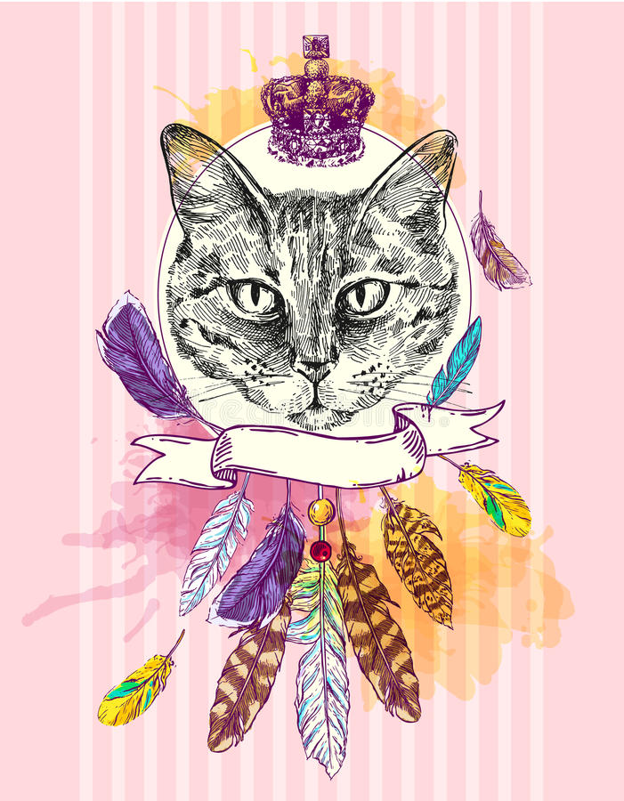 Illustration mit Tier lizenzfreie abbildung