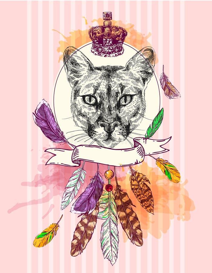 Illustration mit Tier stock abbildung