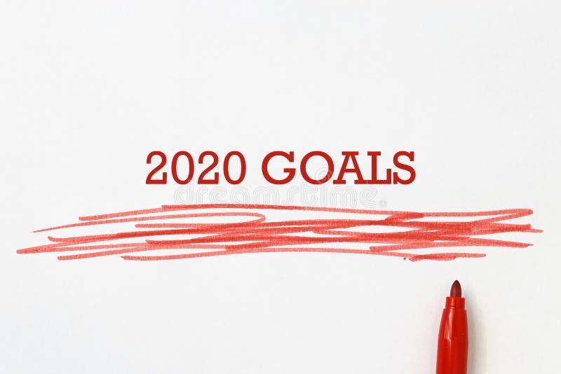 Illustration mit 2020 Zielen lizenzfreie stockfotos