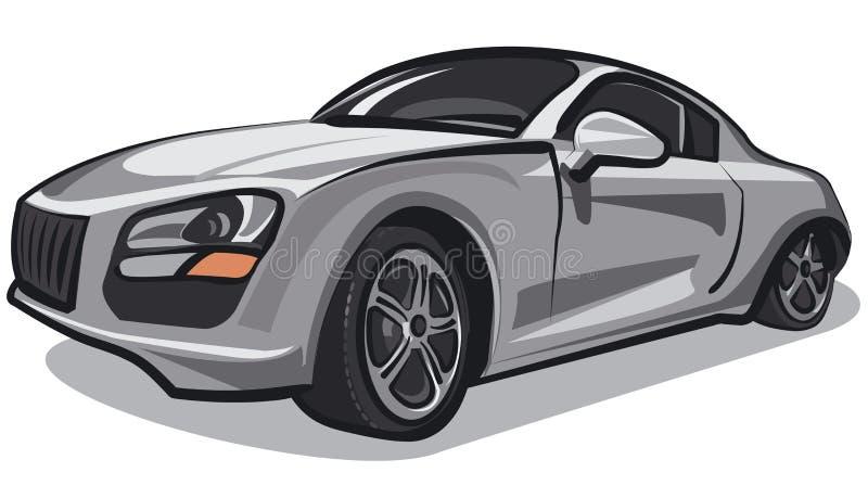 Silver sport car vector illustration