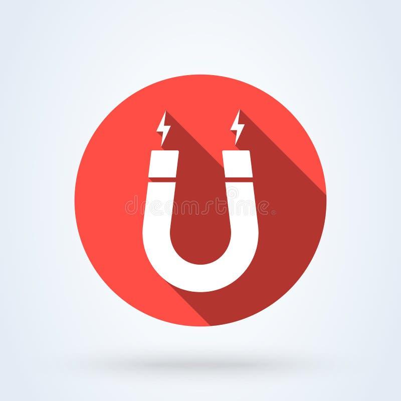 Illustration moderne d'aimant et de conception d'icône de vecteur simple de magnétisme illustration libre de droits