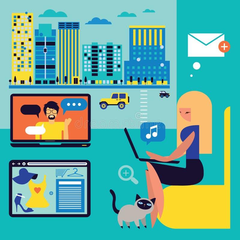 Illustration moderne de communications illustration libre de droits