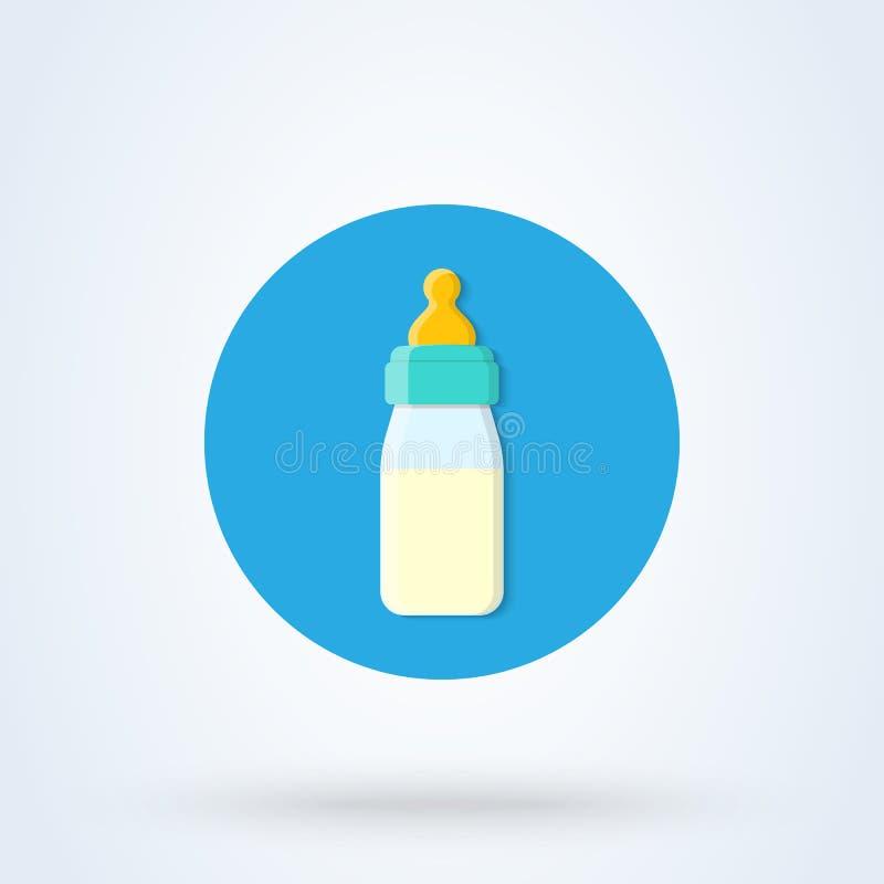 Illustration moderne de conception d'icône de vecteur simple plat de biberon illustration de vecteur