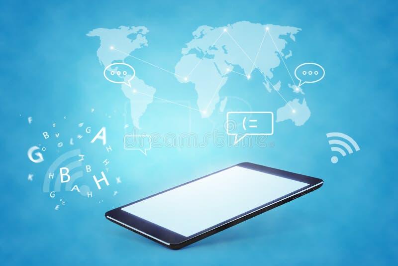 Illustration moderne de technologie des communications avec photographie stock